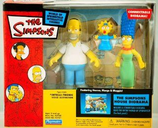 Simpsons   House Diorama featuring Homer, Marge and Maggie (Simpson) Figures: Toys & Games