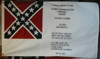 Confederate, Stonewall Jackson Memorial Civil War Flag: Everything Else