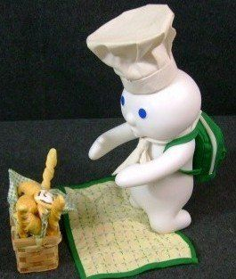 Pillsbury Doughboy Danbury Mint Porcelain Doll Picnic Surprise 1999   Collectible Figurines