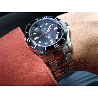Bulova Men's 98B131 Marine Star Black Dial Bracelet Watch: Bulova: Watches