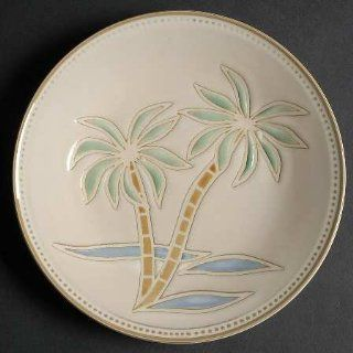 Pfaltzgraff Palm Salad Plate, Fine China Dinnerware: Kitchen & Dining