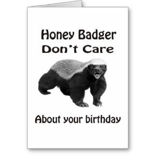 Honey Badger Don't Care about your birthday Cards: Office Products