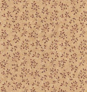 Brewster 137 53342 Kitchen Bath Bed Resource III Weathered Leaf Sprig Wallpaper, 20.5 Inch by 396 Inch, Red