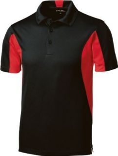 Sport Tek Side Blocked Micropique Sport Wick Performance Polo Shirt ST655: Clothing