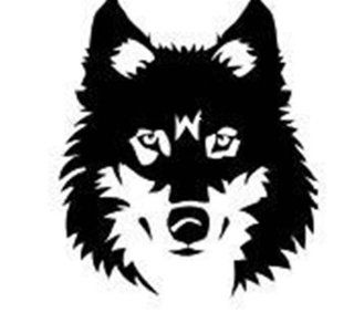 Design with Vinyl Design 142 Wolf Head Picture Art Vinyl Wall Decal, 18 Inch By 22 Inch, Black