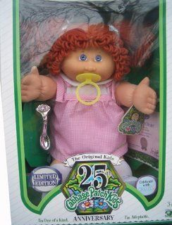 Cabbage Patch Kids 25th Anniversary Doll   Caucasian Girl with Red Hair: Toys & Games