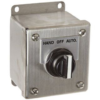 """Siemens 52C156S Heavy Duty Selector Switch Control Station, 3 Positions, Water and Oil Tight, 1 Command Points, """"HAND OFF AUTO"""" Labeled, NEMA 4X Stainless Steel Protection,  1NO 1NC Contact Types Industrial & Scientific"""
