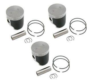 SPI, 09 718, (3) SPI Standard Bore Piston Kits Polaris Ultra SP 680 Pistons & Rings 66.6mm Automotive