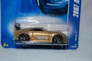 Mattel Hot Wheels 2007 All Stars Series 164 Scale Die Cast Metal Car # 152 of 180   Gold Sport Coupe Nissan Z with Black Spoiler and Fun Facts # 152 Toys & Games