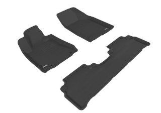 MAXpider BLACK Rubber Floor Mats, Full Set, 3 pieces, Fits 2004 2009 Lexus RX330 / RX350, Additional Fitment Notes Automotive