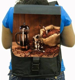 Rikki KnightTM Sack Of Coffee Beans With French Press Back Pack: Computers & Accessories