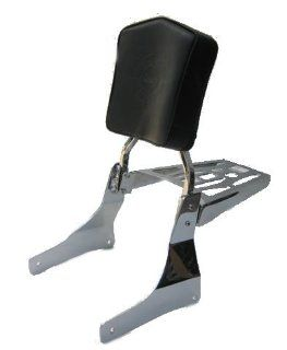 "Honda '95 up Shadow Aero VT1100 C3 Sissy Bar, Backrest Pad & 9"" X 6"" Luggage Rack Combo: Automotive"