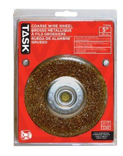 Task Tools T25644 1/2 Inch to 5/8 Inch Coarse Crimp Wire Wheel with 5 Inch Diameter: Home Improvement
