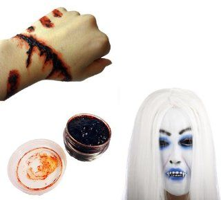 Set of 2 items for sale instant horror! Mask vampire blood with glue AmanoSong original (A159) Hair Witch Halloween fancy dress costume cosplay event haunted haunted house horror gore (japan import): Toys & Games