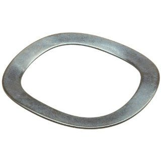 "Compression Type Wave Washer, Carbon Steel, 3 Waves, Inch, 0.886"" ID, 1.169"" OD, 0.02"" Thick, 1.181"" Bearing OD, 1316lbs/in Spring Rate, 125.7lbs Load, (Pack of 10): Flat Springs: Industrial & Scientific"