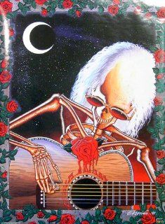 Grateful Dead   Skeleton Playing Guitar 22x31 Poster   Prints