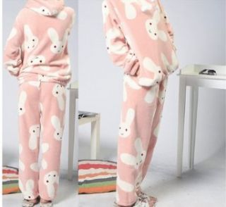 Qyz@cute Cartoon Women's Pajamas Suitable for Autumn&winter (L(height:160 165 cm bust 102 cm clothes length:64 cm hip:115): Clothing