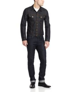 Nudie Jeans Men's Perry Denim Jacket, Denim, X Large: Clothing