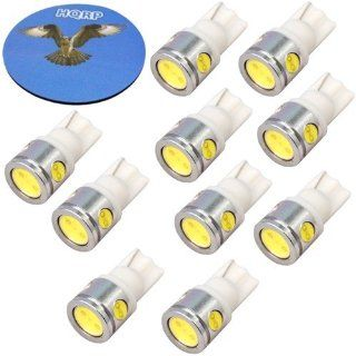 HQRP 10 pack T10 Wedge Base 4 LEDs SMD LED Bulbs Cool White for #194 #168 W5W RV Interior / Ceiling / Porch Lights Replacement plus HQRP Coaster: Automotive
