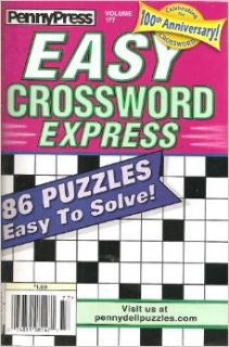 PennyPress Easy Crossword Express Magazine Volume 177: Various: Books