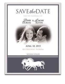 170 Save the Date Cards   Horse Wisper Bronze: Office Products