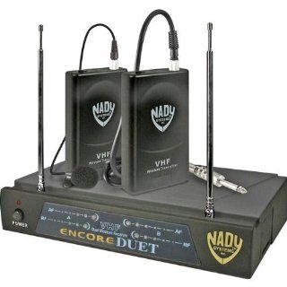 Encore Duet LT Two Channel VHF Wireless Lavaliere Microphone System   Frequencies A, 171.905MHz and Musical Instruments