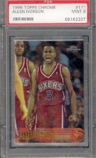 1996 97 Topps Chrome Allen Iverson #171 RC PSA 9 MINT: Sports Collectibles