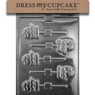 Dress My Cupcake DMCC457 Chocolate Candy Mold, Cute Mittens Lollipop, Christmas: Kitchen & Dining