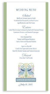 175 Wedding Menu Cards   Swan Garden : Greeting Cards : Office Products