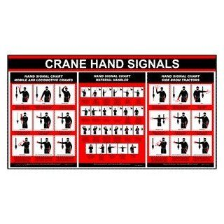 Crane Hand Signals Mobile Locomotive Material Side Boom Sign CRANE 177: Office Products