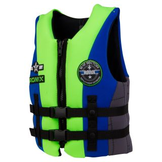 Ronix 2013 Vision Boys Front Zip CGA Life Vest   Blue / Mike Lime   Water Sport Accessories