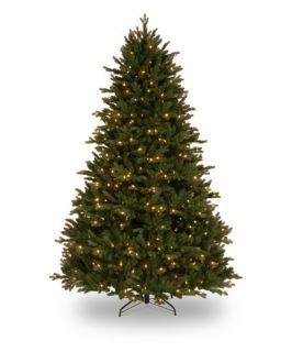 7.5 ft. Feel Real Royal Fir Hinged Pre Lit Christmas Tree   Christmas Trees