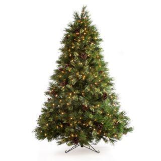 7.5 ft. White Pine Pre Lit Christmas Tree   Christmas Trees