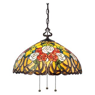 Z Lite Rosa 3 Light Pendant Z18 38 03B   18W in.   Tiffany Ceiling Lighting