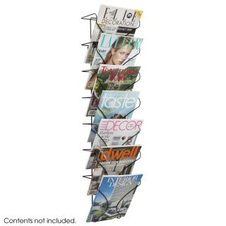 Safco 6432BL 7 Pocket Wire Wall Display   Black   Commercial Magazine Racks