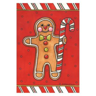 Toland 28 x 40 in. Gingerbread Man House Flag   Flags