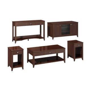 kathy ireland Office by Bush Furniture Grand Expressions Family Work N Play Collection 47 in. TV Stand Bundle   Coffee Table Sets