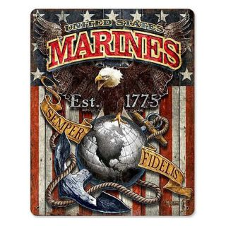 7.62 Design USMC Eagle Metal Sign   11W x 14H in.   Wall Sculptures and Panels