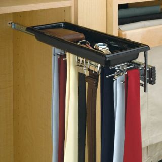 Rev A Shelf RTBC 14TCR Tie/Belt Rack with Tray   Chrome   Closet Organizers