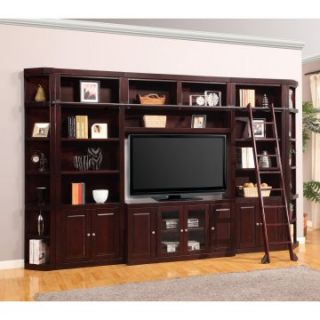 Parker House Boston Library Wall Entertainment Center Bookcase   Merlot   Bookcases