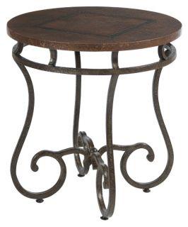 Bernhardt Carmel Round Metal End Table   End Tables