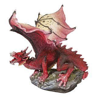 Design Toscano 8.5 in. The Red Devil Dragon Statue   Sculptures & Figurines