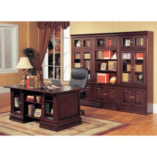 Parker House Executive Desk and Optional Wall Bookcase   Bookcases