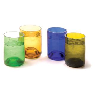 Oenophilia Recycled Wine Bottle Tumblers   Set of 4   Wine Glasses