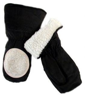 Jemcor 100% Leather Ski Doo Mitt With Glass Wipe And Warm Sherpa Lining   Winter Gloves