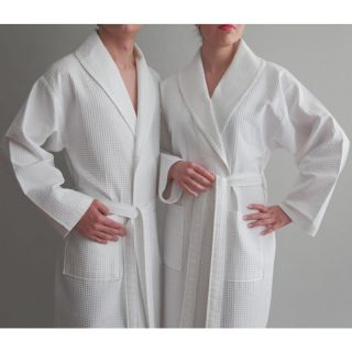Luxury Hotel & Spa 100 % Turkish Cotton Unisex Waffle Weave Bathrobe   Bath Robes
