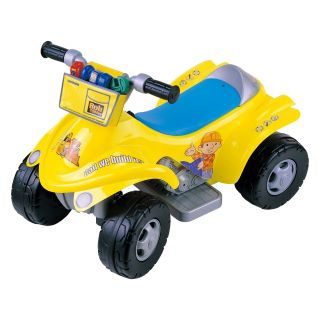 New Star Bob the Builder 4 x 4 ATV Battery Operated Riding Toy with Tool Bag   Battery Powered Riding Toys