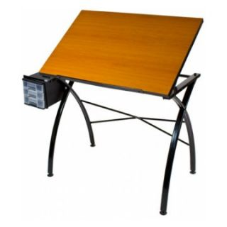 Martin Dezign Line Drawing Table with Cherrywood Top   Drafting & Drawing Tables