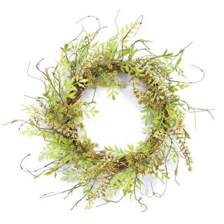 18 in. Queen Anne Lace and Foliage Plastic Wreath   Wreaths