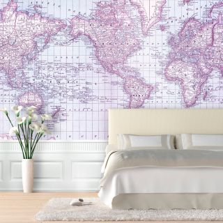 Rand McNally 1879 World Atlas Map Wallpaper   Wallpaper